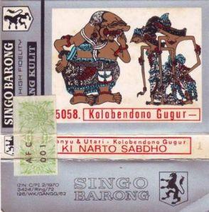 Ki Nartosabdo Kalabendono Gugur Vesi Singo Barongan Tahun 60-80an